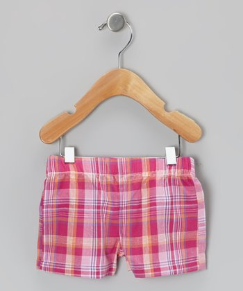 Pink Plaid Shorts - Infant & Toddler