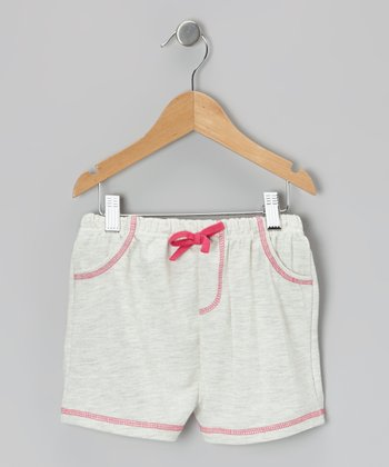 Oatmeal Heather Bow Shorts - Infant