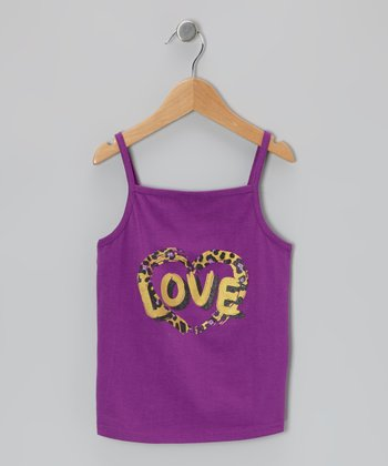 Purple 'Love' Tank - Infant & Toddler