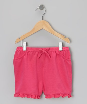 Fuchsia Ruffle Shorts - Infant