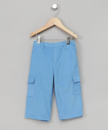 Sky Blue Corduroy Cargo Pants - Infant, Toddler & Boys