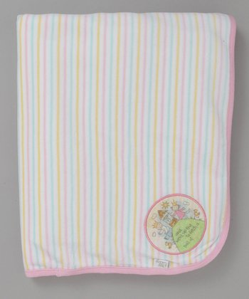 Pink Stripe Jack and Jill Blanket