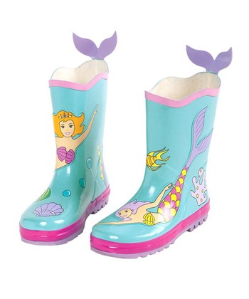 Aqua Mermaid Rain Boot