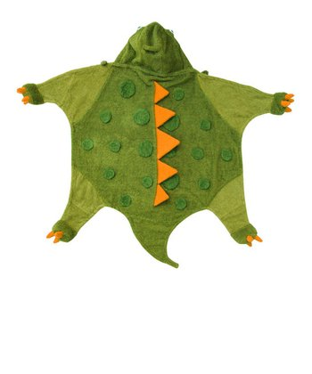 Green Dino Hooded Towel