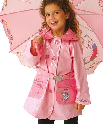Pink The English Roses Raincoat - Toddler & Kids