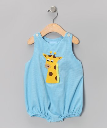 Blue Giraffe Bubble Bodysuit - Infant