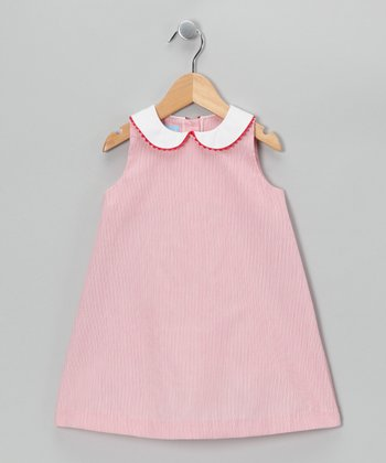 Red Stripe A-Line Dress - Toddler