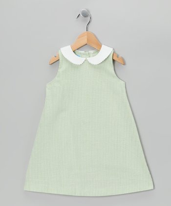 Lime Stripe A-Line Dress - Toddler