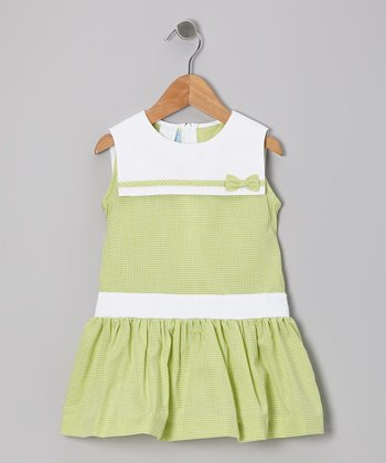Lime Gingham Sailor Dress - Toddler & Girls