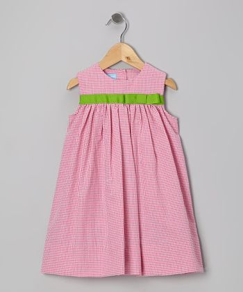 Hot Pink Gingham Seersucker Bow Float Dress - Infant & Toddler