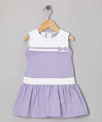 Purple Gingham Sailor Dress - Toddler & Girls