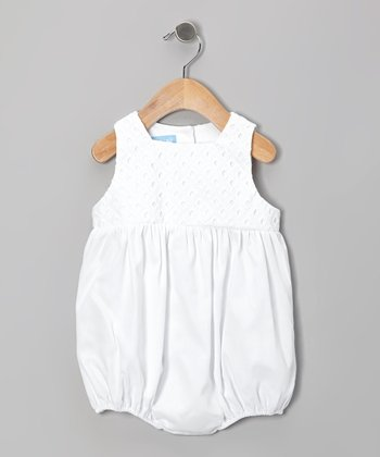 White Eyelet Bubble Bodysuit - Infant