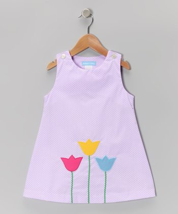 Purple Polka Dot Tulip Jumper - Infant & Girls