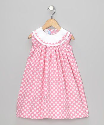 Pink Polka Dot Float Dress - Infant & Toddler