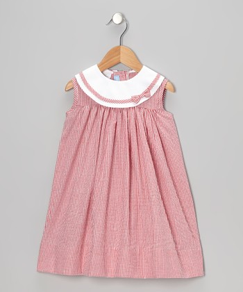 Red Gingham Seersucker Float Dress - Infant & Toddler