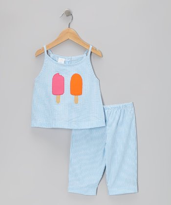 Blue Stripe Popsicle Tank & Capri Pants - Infant & Toddler