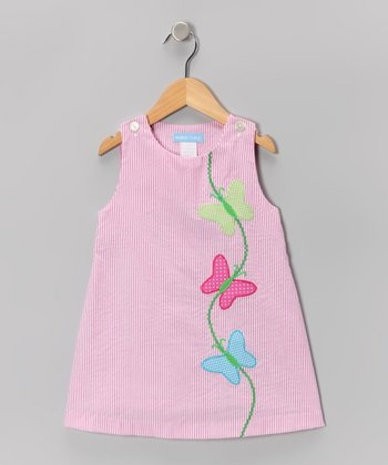Pink Stripe Butterfly Jumper - Infant, Toddler & Girls