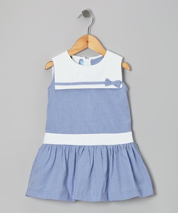 Royal Gingham Sailor Dress - Toddler & Girls