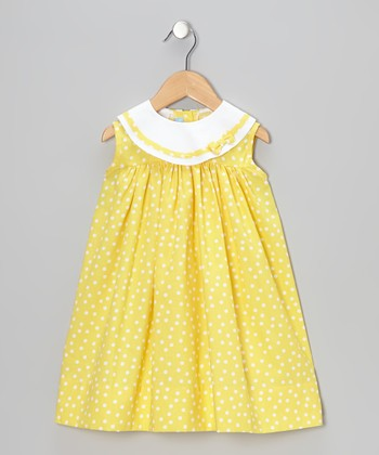 Yellow Polka Dot Float Dress - Infant & Toddler