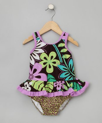Bali Bay Ruffle Tank & Swim Diaper - Infant