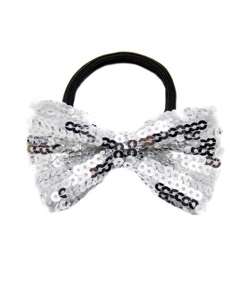 Baby Gaga Silver Bow Sequin Hairband