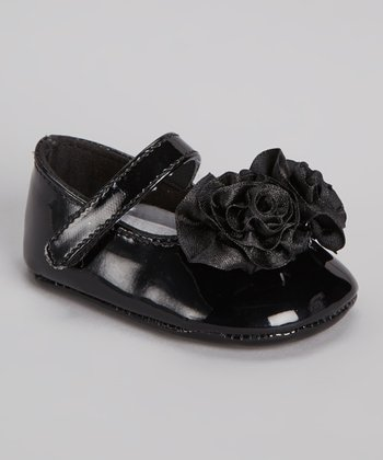 Black Patent Ruffle Mary Jane