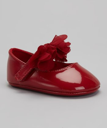 Red Patent & Chiffon Mary Jane