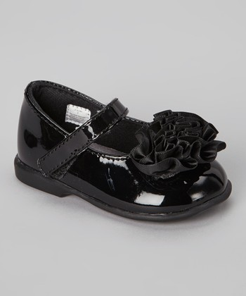 Black Patent & Satin Mary Jane