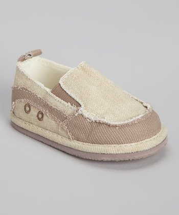Taupe Distressed Slip-On Shoe