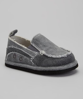 Gray Distressed Slip-On Shoe