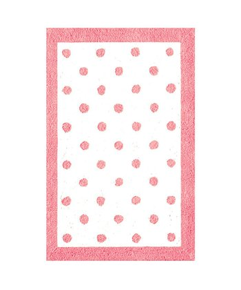 The Rug Market Pale Pink Polka Dot Rug