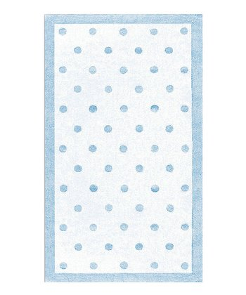 Light Blue Polka Dot Rug