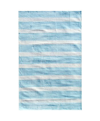 The Rug Market Blue Cabana Stripe Rug