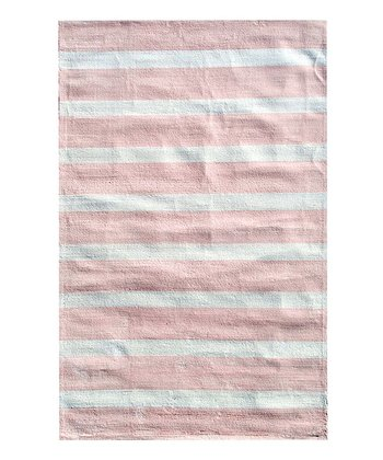 The Rug Market Pink Cabana Stripe Rug