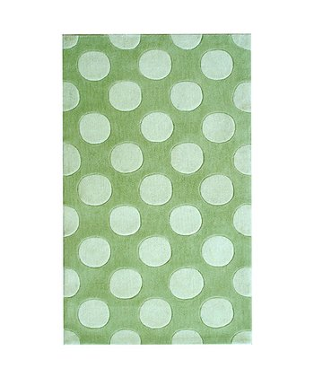 The Rug Market Green & White Polka Mania Rug