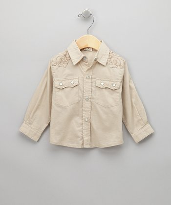 Tan Button-Up Shirt - Infant, Toddler & Boys