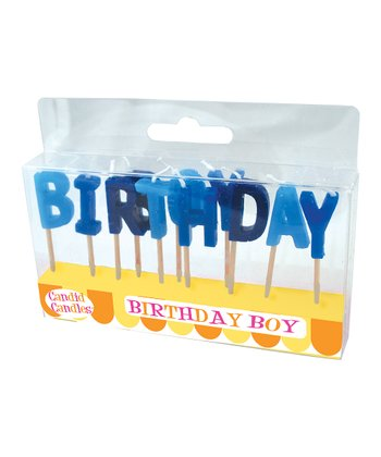 Blue 'Birthday' Candle Set