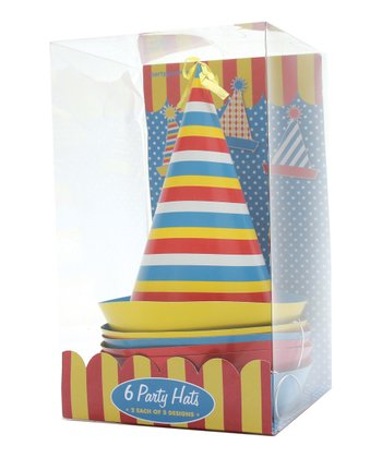 Stripe Party Hat - Set of Six
