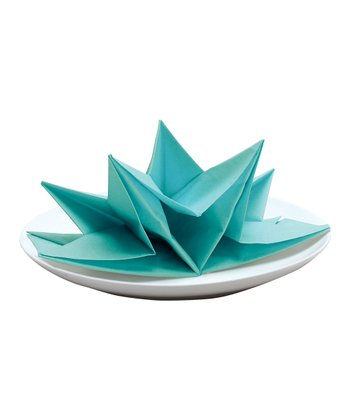 Aqua Fancy Fold Napkin - Set of 12