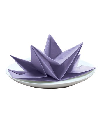 Lavender Fancy Fold Napkin - Set of 12