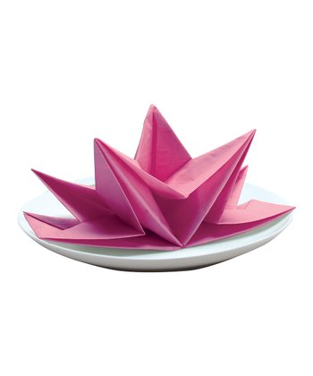Fuchsia Fancy Fold Napkin - Set of 12