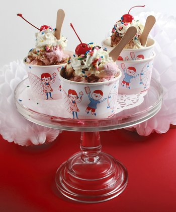 Vintage Ice Cream Cup - Set of 12
