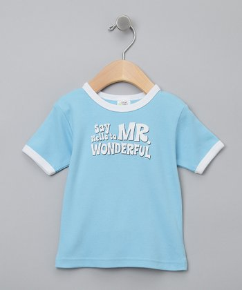 Blue 'Mr. Wonderful' Organic Tee - Infant