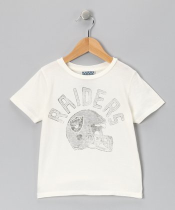 White Oakland Raiders Tee - Toddler & Kids
