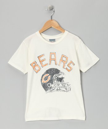 White Chicago Bears Tee - Toddler