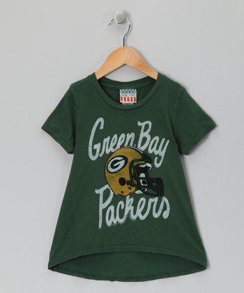 Hunter Green Bay Packers Hi-Low Tee - Toddler & Girls