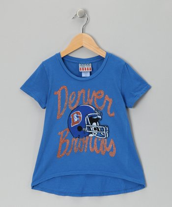 Light Blue Denver Broncos Hi-Low Tee - Girls