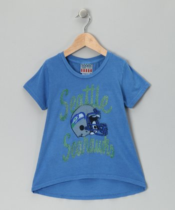 Light Blue Seattle Seahawks Hi-Low Tee - Girls
