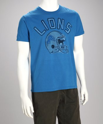 Blue Detroit Lions Tee - Men