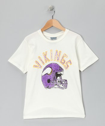 White Minnesota Vikings Tee - Kids